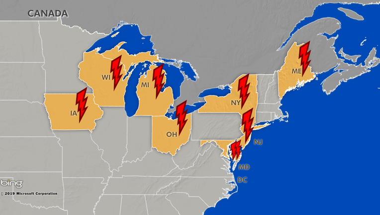 Heatwave & severe weather power outages left customers in many states in the dark