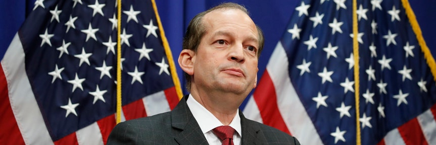 LABOR SECRETARY ALEX ACOSTA DEFENDS JEFFREY EPSTEIN 2008 PLEA DEAL