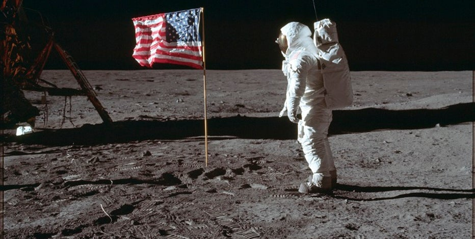 Apollo 11: Buzz Aldrin greeted by cheers on moon landing's 50th anniversary