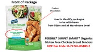 Perdue recalls 495 pounds of chicken over undeclared allergens