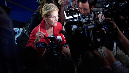 Democrats take swing at Elizabeth Warren over this key issue