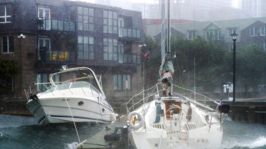 Hurricane Dorian continues north through Nova Scotia, winds take down huge crane