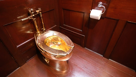 Golden toilet once offered to Trump's White House stolen from Winston Churchill's birthplace