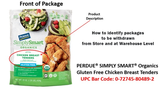 Perdue recalls 495 pounds of chicken over undeclared allergens