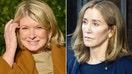 """Felicity Huffman looked """"schlumpy"""" in prison garb: Martha Stewart"""
