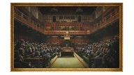 Banksy's 'Devolved Parliament' sells for record-breaking price at auction