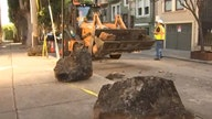 San Francisco removes sidewalk boulders intended to keep tent camps out