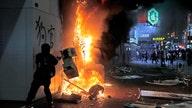 Riots shove Hong Kong into recession