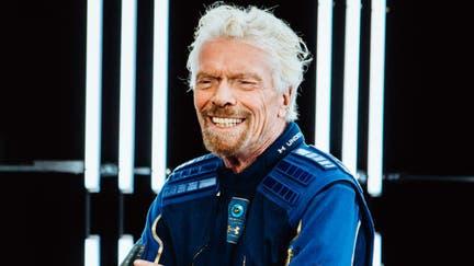 Richard Branson unveils Under Armour spacesuits for Virgin Galactic astronauts