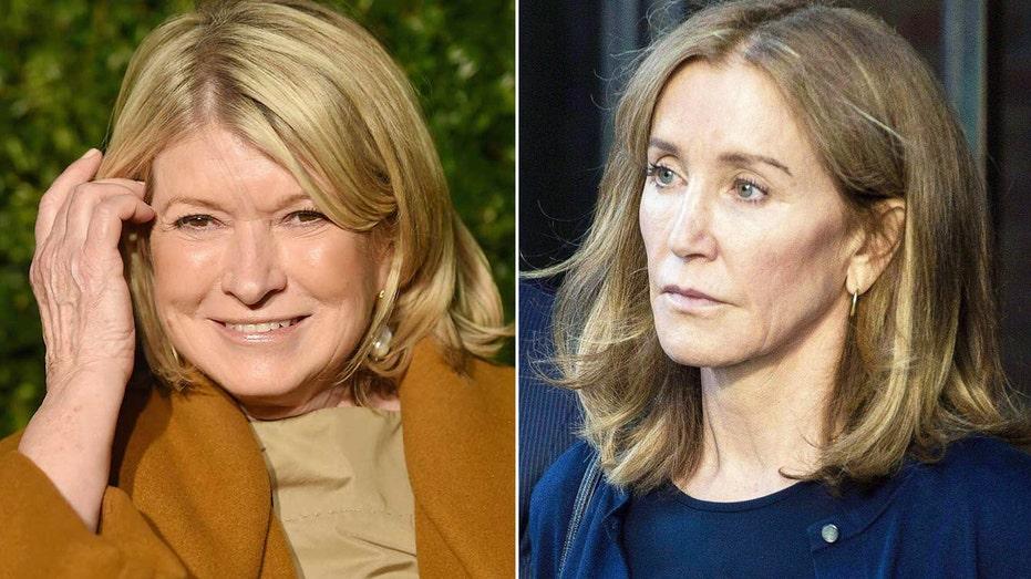Martha Stewart says Felicity Huffman looks 'pretty schlumpy' in prison jumpsuit