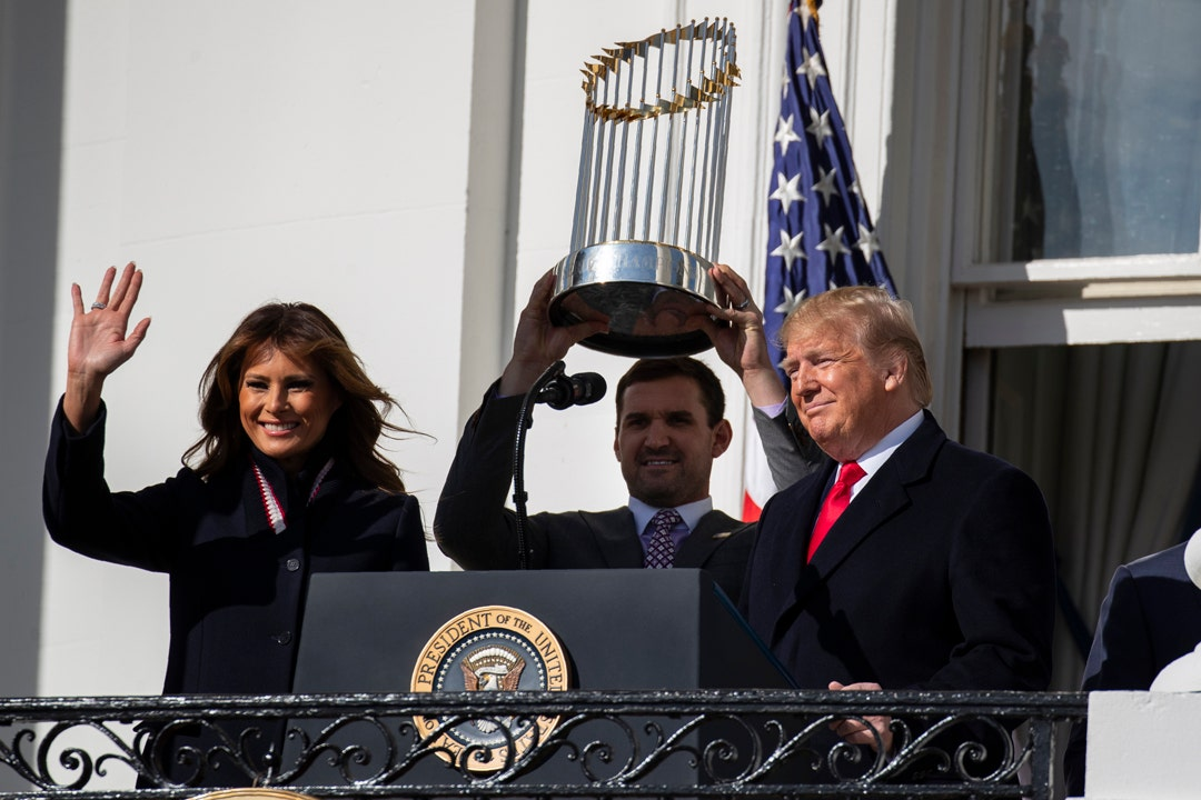 See the Washington Nationals celebrate first World Series win at White House
