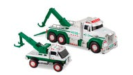 A first for Hess holiday trucks: Toy tow truck joins the 55-year-old fleet