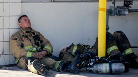 California firefighter, families, finally catch a break