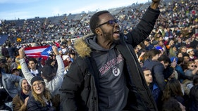 Protesters delaying Harvard-Yale game yanked off field in mass arrest