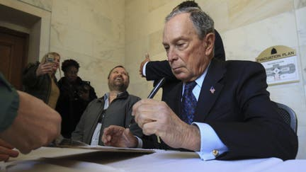 Bloomberg donated millions to cities where he's now looking for votes