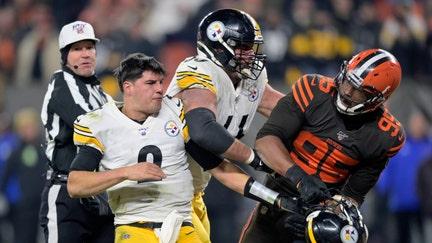 Adidas 'looking into' Myles Garrett's suspension over helmet incident in Browns-Steelers game