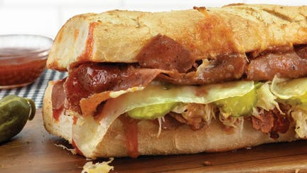 Quiznos partners to test plant-based corned beef sandwich