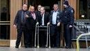 Harvey Weinstein seen without walker after struggling in court