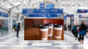 Airline introduces edible coffee cups