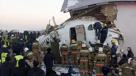 12 killed, dozens hurt after plane crashes in Kazakhstan