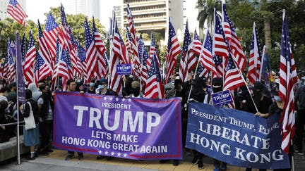 Thousands march to up pressure on Hong Kong government