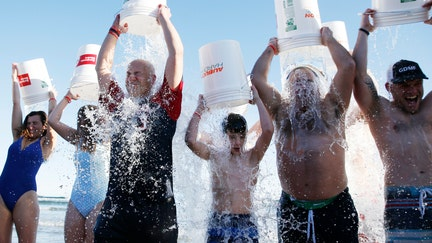 Ice bucket challenge inspiration honored in final plunge