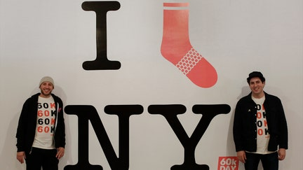 Socks are donated to homeless by Bombas for every pair it sells