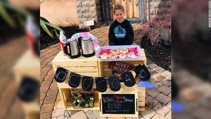 Paying it forward: 5-year-old sells cocoa, cookies to help classmates