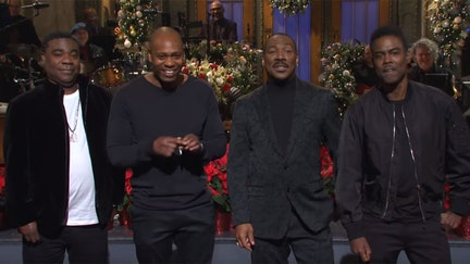 Eddie Murphy hosts 'SNL' and 'half of Netflix's budget' shows up