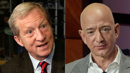 Tom Steyer goes after fellow billionaire Jeff Bezos over Amazon's Cyber Monday