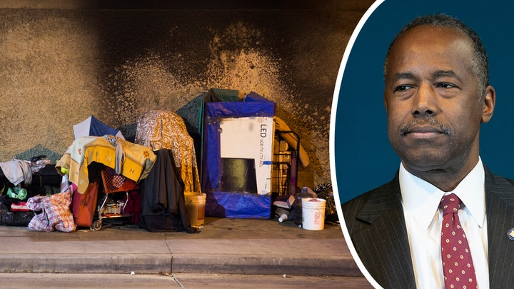 Housing Sec. Ben Carson calls out certain states for rising homelessness
