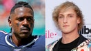 Logan Paul, Antonio Brown tease potential fight in brief social media spat