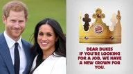 Meghan Markle, Prince Harry get Burger King job offer