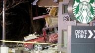 Truck slams into Starbucks, sends 4 to hospital