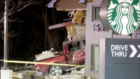 Truck slams into Starbucks, sends 4 to hospital