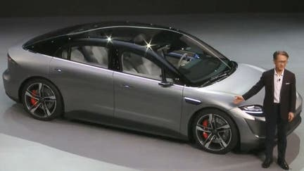 Sony shows off electric car concept at CES