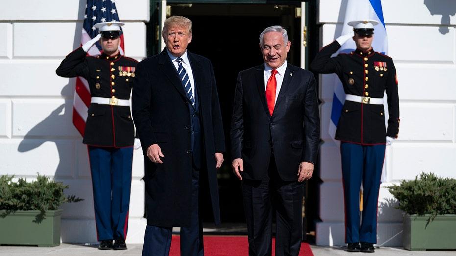Netanyahu hopes to 'make history' at talks on Trump peace plan