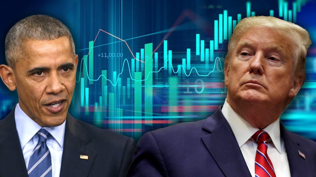Trump calls Obama economic boom brag 'con job'