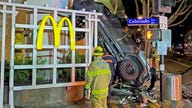 Man's car slams into McDonald's after he drove off parking garage, authorities say