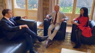 Jeff Bezos, Lauren Sanchez meet with French President Emmanuel Macron
