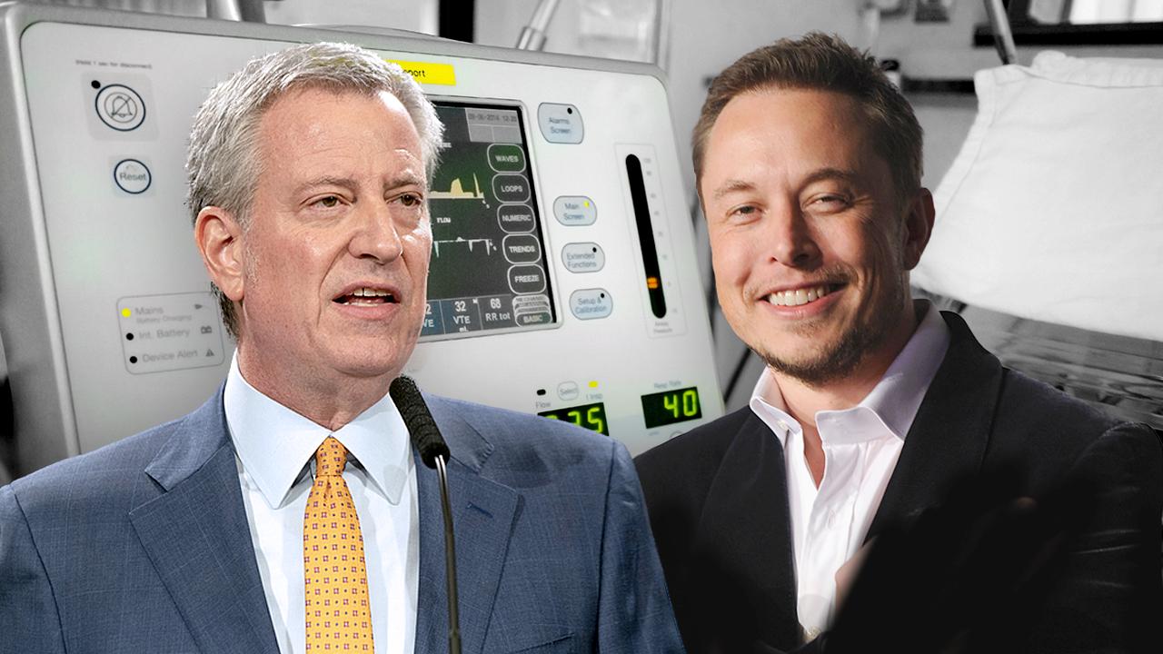 NYC mayor thanks Musk for coronavirus ventilator production
