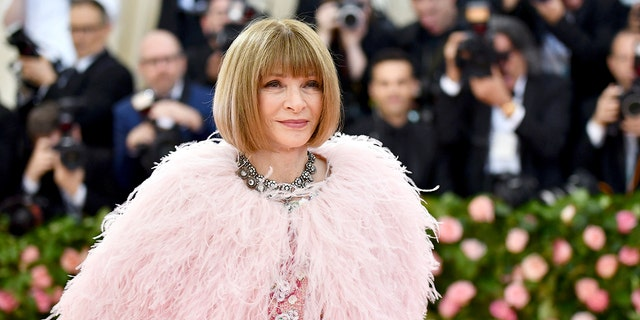 Vogue editor Anna Wintour has reportedly split from telecom tycoon Shelby Bryan after more than 20 years together. (Photo by Charles Sykes/Invision/AP, 文件)