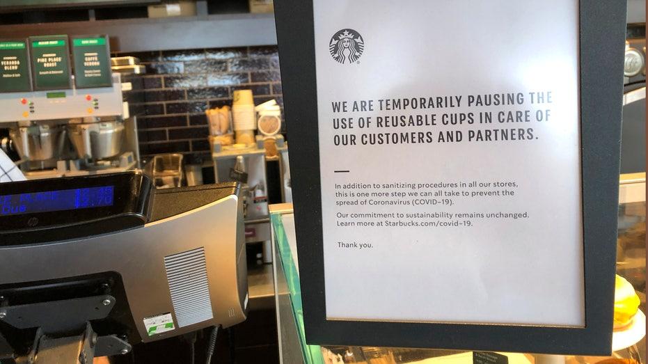 Starbucks : stops customers using own cups in bid to contain coronavirus
