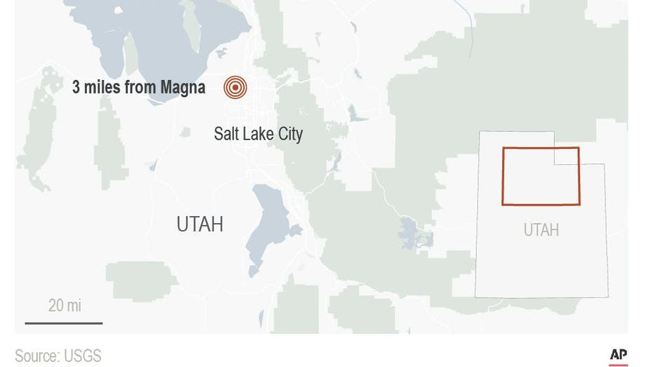 Preliminary 5.7 natural disaster hits near Salt Lake City