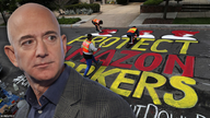 Road near Bezos home vandalized with 'PROTECT AMAZON WORKERS' graffiti
