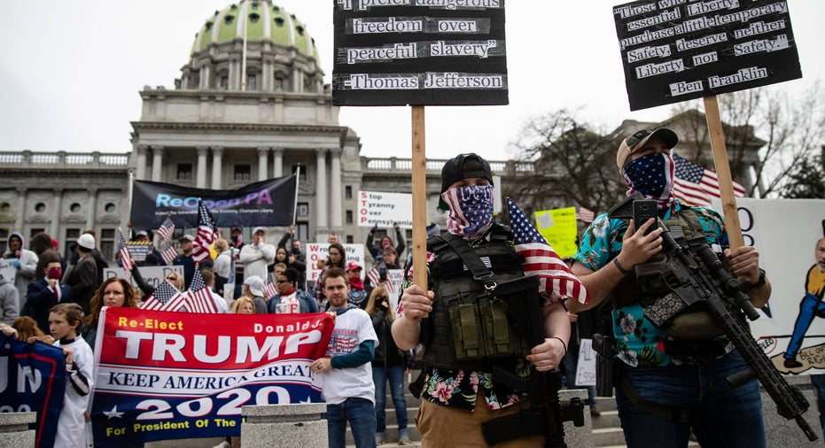 Coronavirus lockdown protesters gather in Pennsylvania, other hard ...