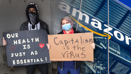 Amazon, Walmart, Target workers hold May Day strike, demand coronavirus hazard pay