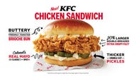 KFC reignites chicken sandwich war with new menu test