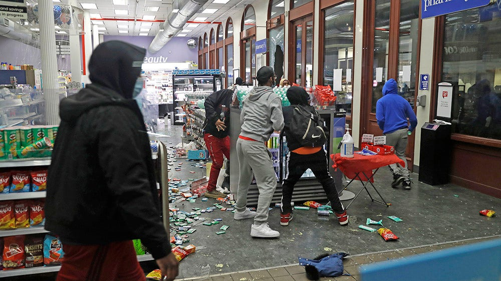 Image of article 'Looting, violent protests breaking backs of small businesses we need to restart America'