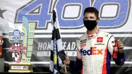 Denny Hamlin wins on a long day at  Homestead